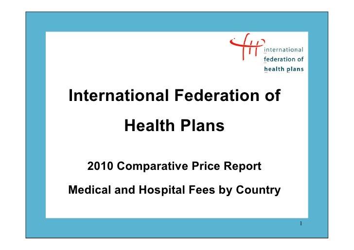 Ifhp price report2010_comparativepricereport29112010