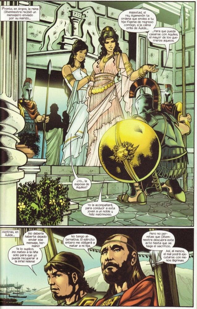 ?ronto, en Arqos, la reina tlítemnestra recib¡ó un    mensajero envjado      por su marido...