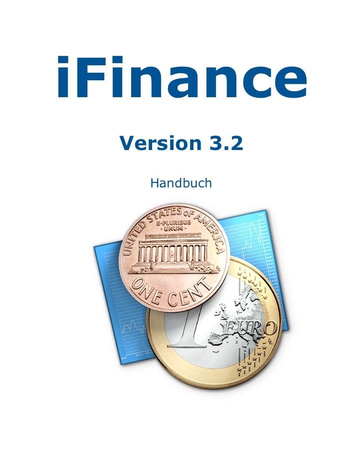 iFinance  Version 3.2    Handbuch
