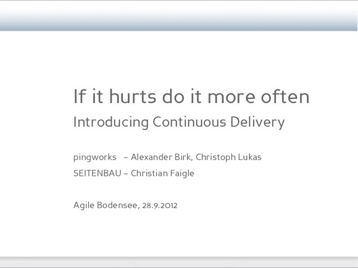 Agile Bodensee - Introducing Continuous Delivery