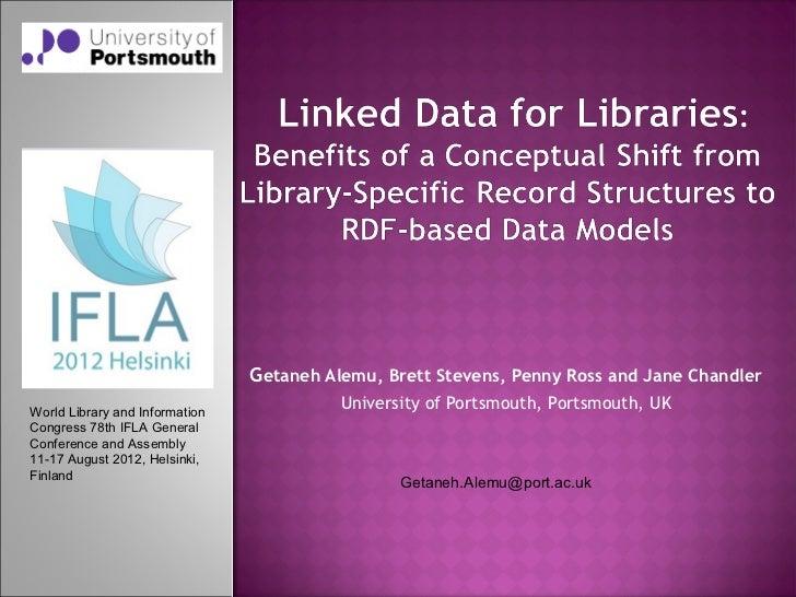 Getaneh Alemu, Brett Stevens, Penny Ross and Jane ChandlerWorld Library and Information                                   ...