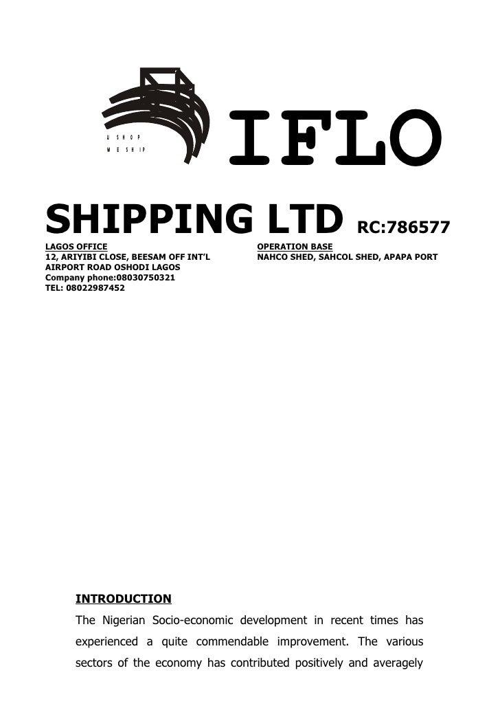 U S H O P             W E S H IP                                      IFLOSHIPPING LTD RC:786577LAGOS OFFICE              ...