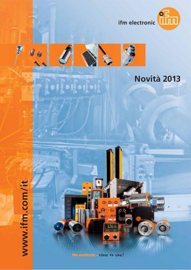 www.ifm.com/it Novità 2013