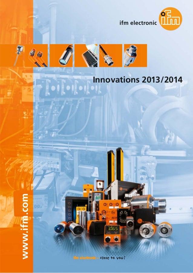 www.ifm.com  Innovations 2013/2014