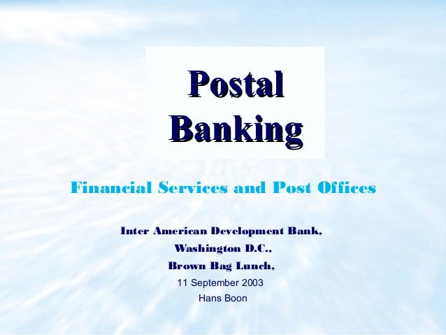 Postal banking financial services and post offices - Internet banking post office ...