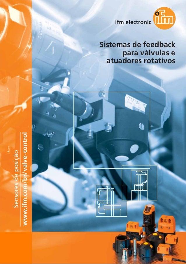 Sensores de posição www.ifm.com/br/valve-control  Sistemas de feedback para válvulas e atuadores rotativos  102