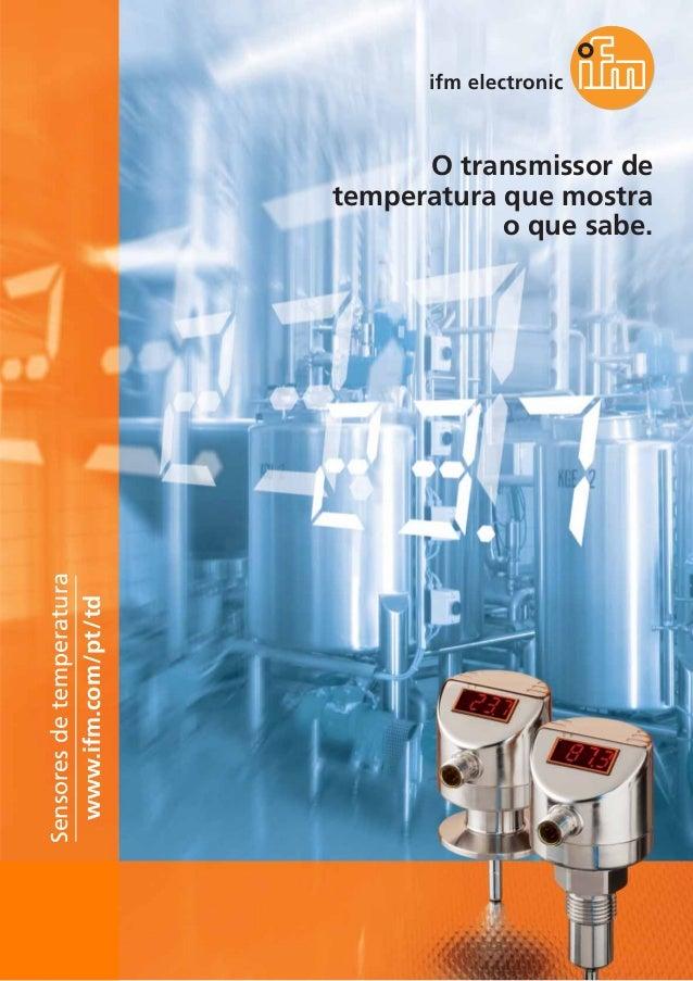 Ifm Temperature Sensors TD Brochure Portugal 2013