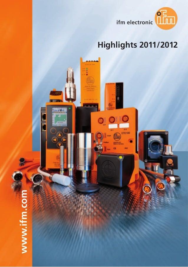www.ifm.com Highlights 2011/2012
