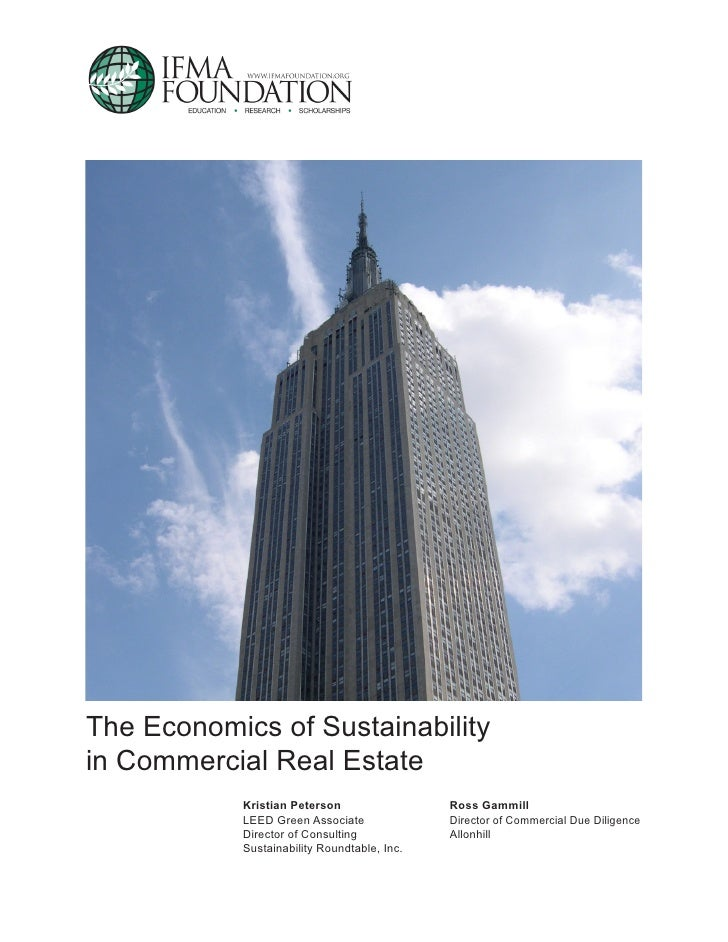 The Economics of Sustainability in the Comemrcial Real Estate Sector