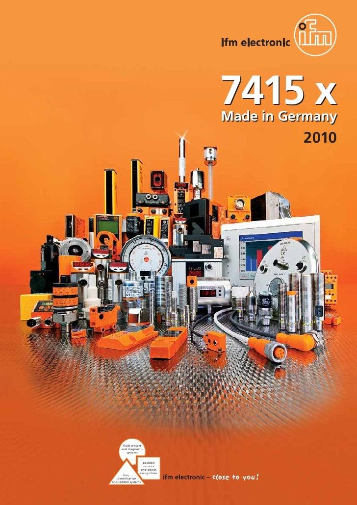 7415 x                                 Made in Germany                                           2010            fluid sen...