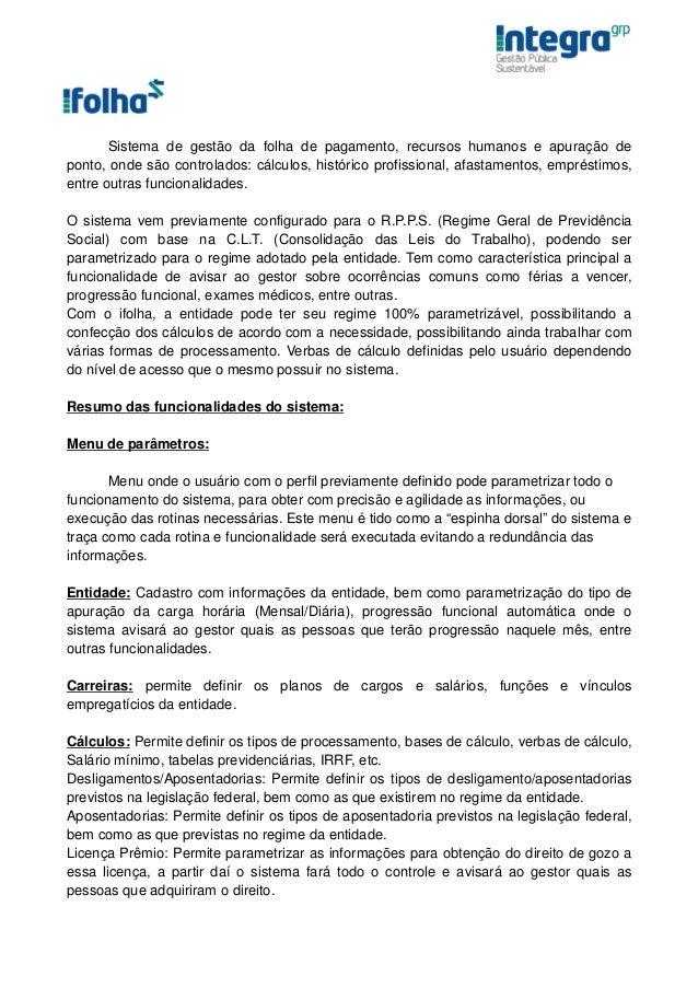 iFolha - Software de Gestão de Folha de Pagamento