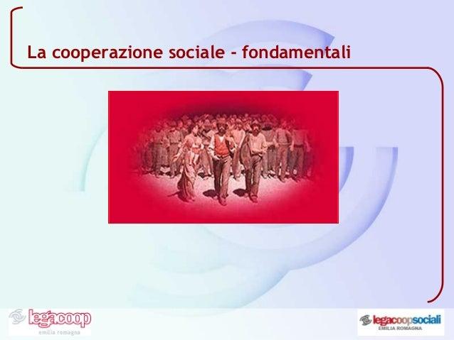 La cooperazione sociale - fondamentali
