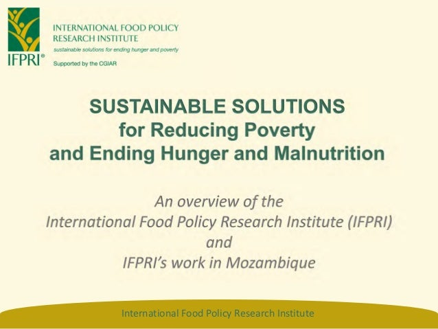 SUSTAINABLE SOLUTIONS      for Reducing Povertyand Ending Hunger and Malnutrition                An overview of theInterna...