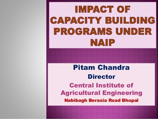 Pitam Chandra Director Central Institute of Agricultural Engineering Nabibagh Berasia Road Bhopal