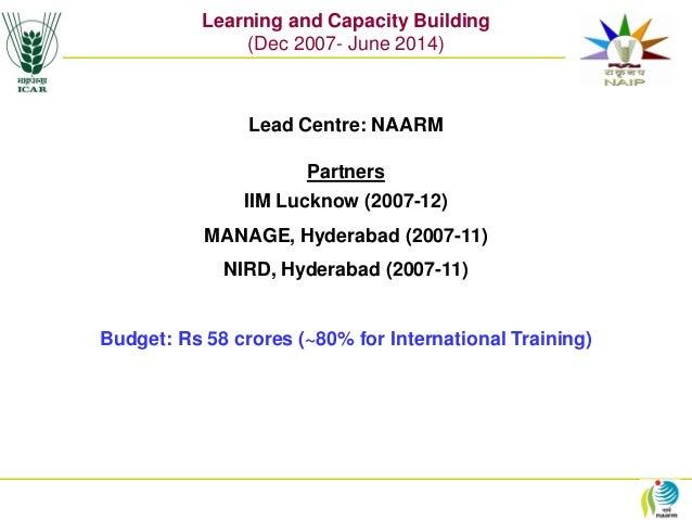 IFPRI- NAIP - Learning and Capacity Building - N H Rao