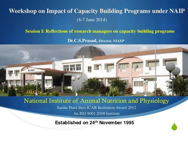 IFPRI - NAIP - Reflections of Research Managers on Capacity Building Programs - C S Prasad