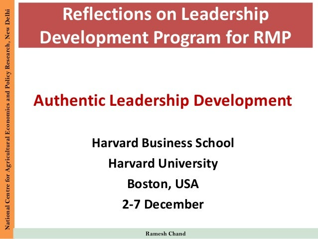 IFPRI - NAIP -- Reflections on Leadership Development Program - Ramesh Chand