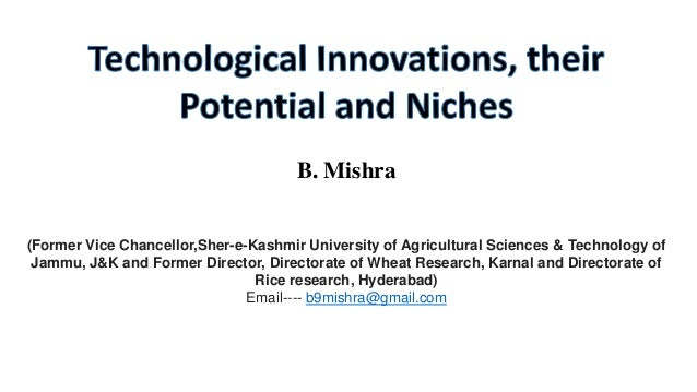 IFPRI -tecnological innovation and their potential niches