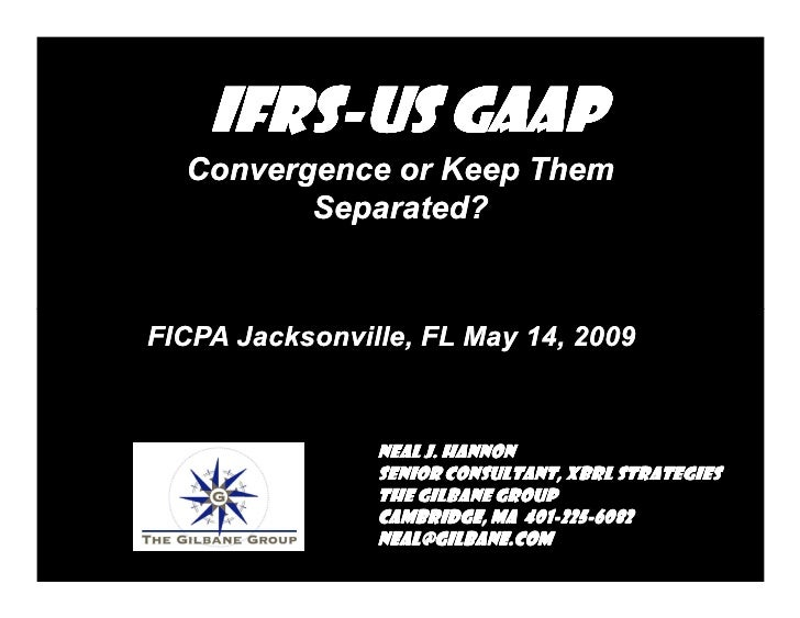 IFRA US GAAP Convergence