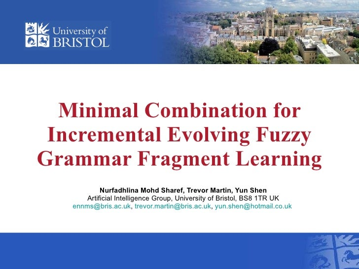 Incremental Evolving Grammar Fragments