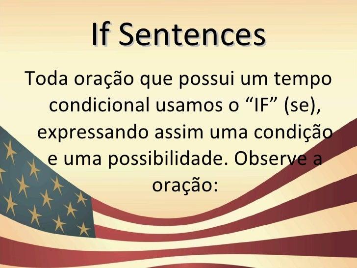 If sentences