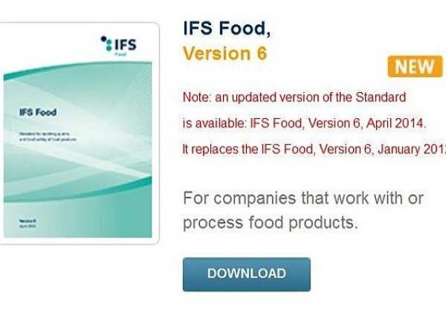 IFS Food Updated Version 6 April 2014