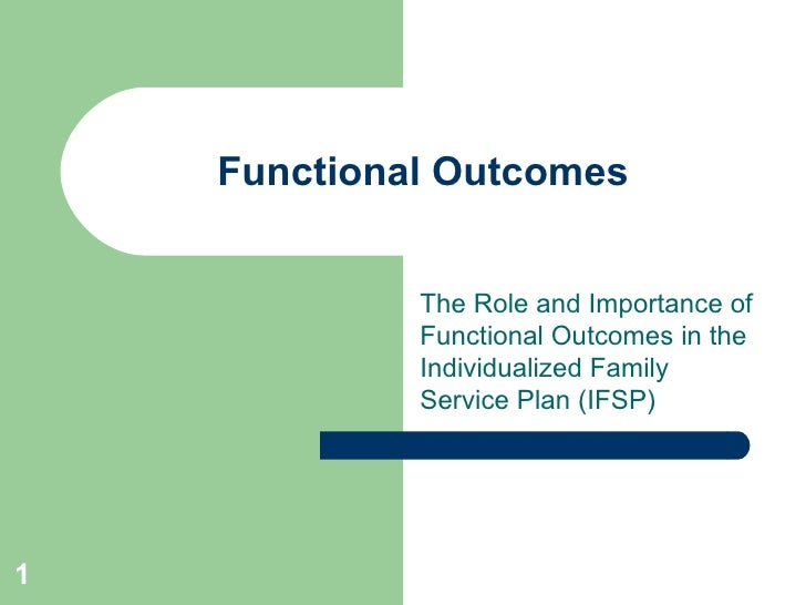 IFSP And Functional Outcomes instructions