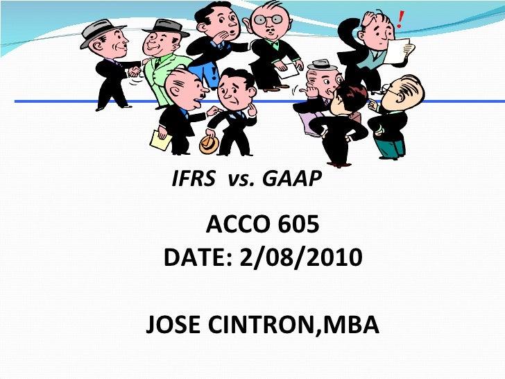 IFRS vs FASB,GAAP, International Accounting