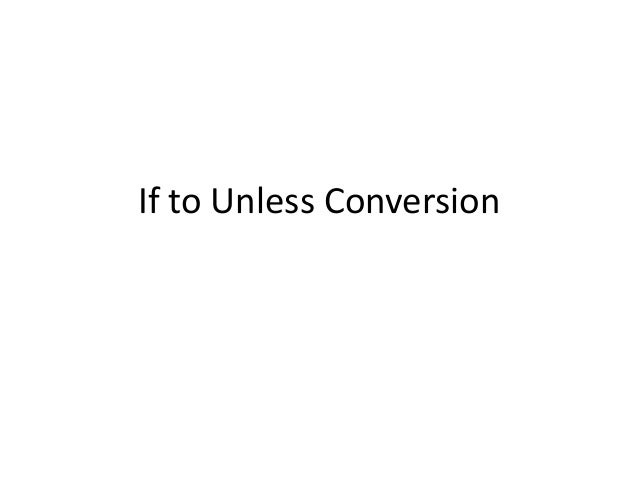 If to Unless Conversion
