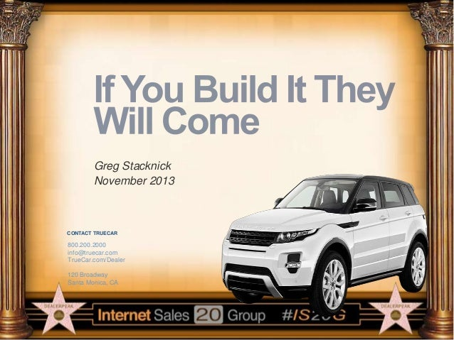 Greg Stacknick – If You Build It They Will Come