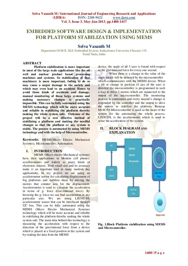 Selva Vasanth M / International Journal of Engineering Research and Applications(IJERA) ISSN: 2248-9622 www.ijera.comVol. ...