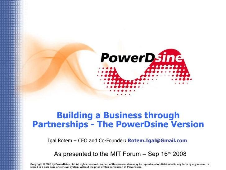 Igal Rotem  Building A Business Through Partnership