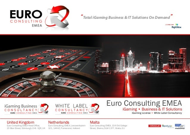 """Total iGaming Business & IT Solutions On Demand""Euro Consulting EMEAiGaming • Business & IT SolutionsiGaming License • Wh..."
