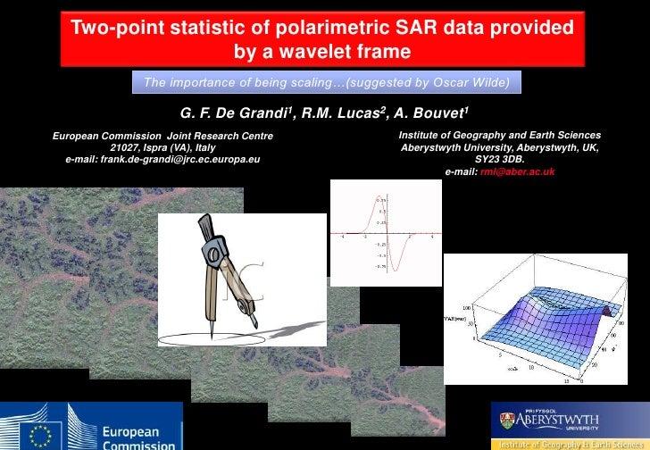 TWO-POINT STATISTIC OF POLARIMETRIC SAR DATA TWO-POINT STATISTIC OF POLARIMETRIC SAR DATA