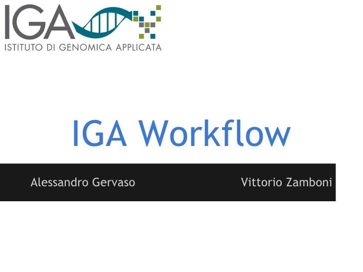 IGA WorkflowAlessandro Gervaso   Vittorio Zamboni