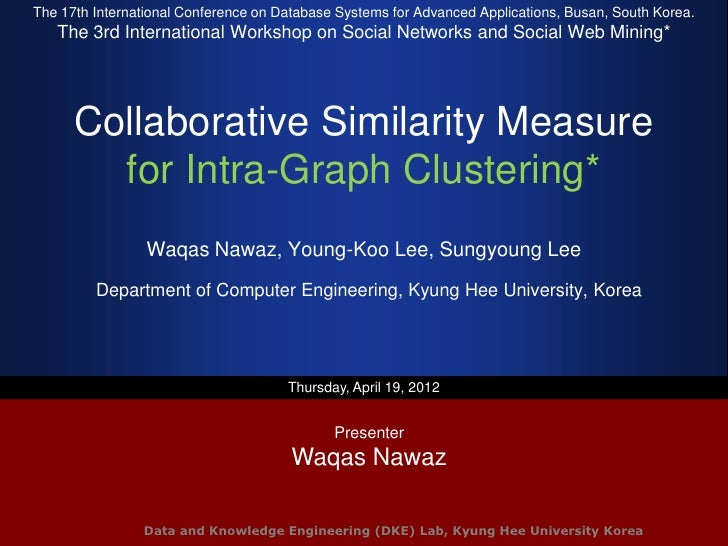 Collaborative Similarity Measure for Intra-Graph Clustering