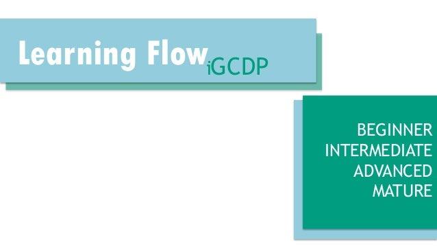 Learning FlowiGCDP BEGINNER INTERMEDIATE ADVANCED MATURE