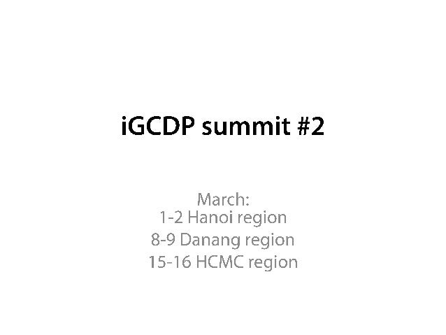 [I gcdp] march summit booklet