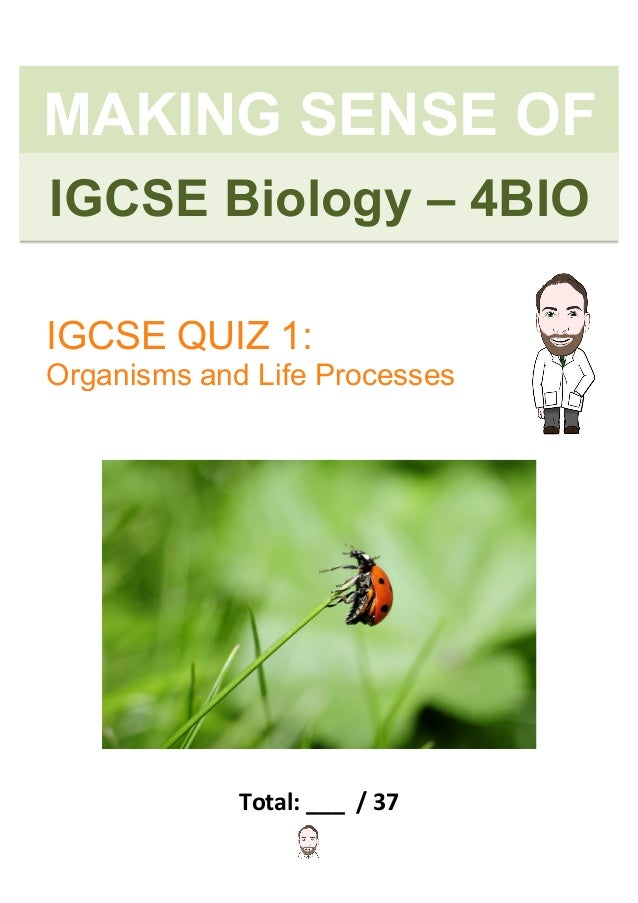 IGCSE Biology Revision Quiz - Organisms and Life Processes