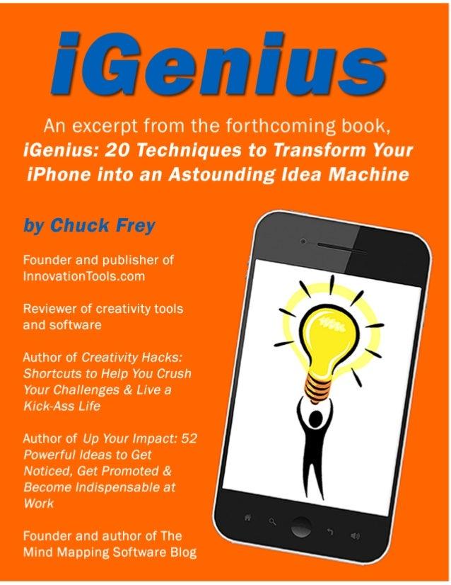 iGenius: 20 Techniques to Transform Your iPhone into an Astounding Idea Machine (book excerpt)
