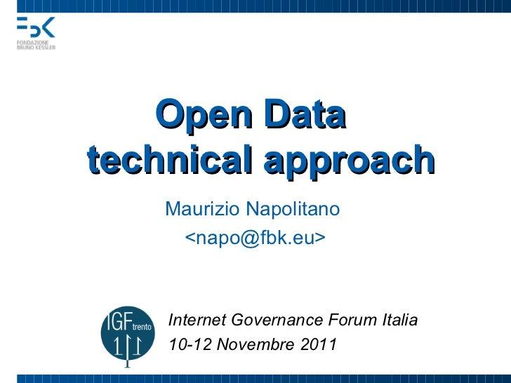 Open Data - technical approach