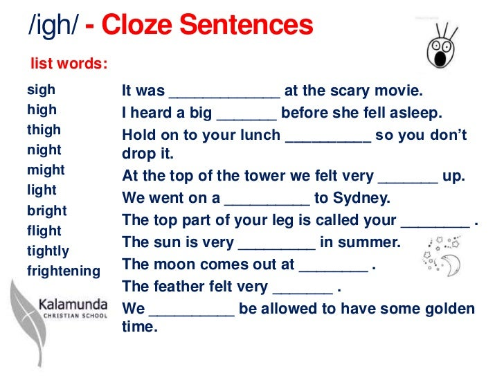 spelling list worksheet