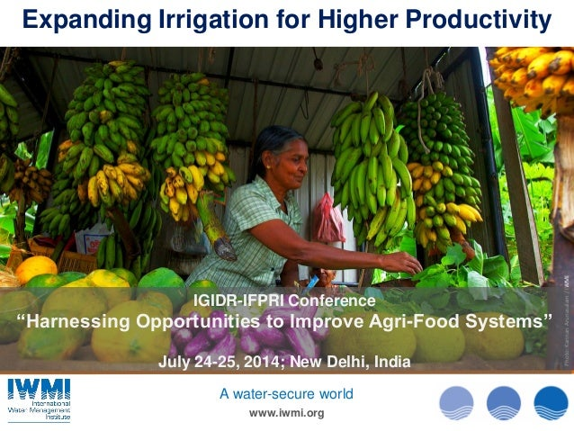"Photo:KannanArunasalam/IWMI www.iwmi.org A water-secure world IGIDR-IFPRI Conference ""Harnessing Opportunities to Improve ..."