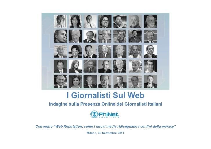I Giornalisti Sul Web 09/2011