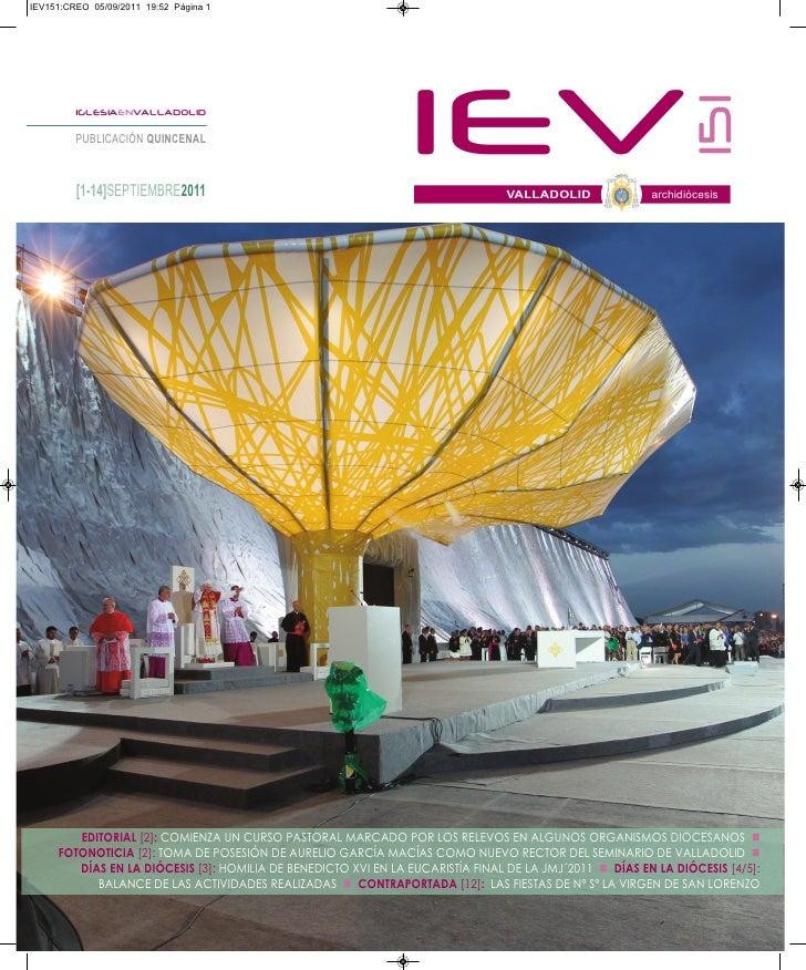 IEV151:CREO 05/09/2011 19:52 Página 1                                                                IEV                  ...