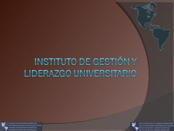 Instituto de Gestión y Liderazgo Universitario