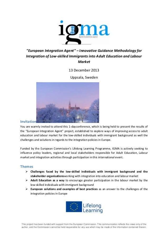 IGMA conference invitation and agenda, Uppsala December 13th