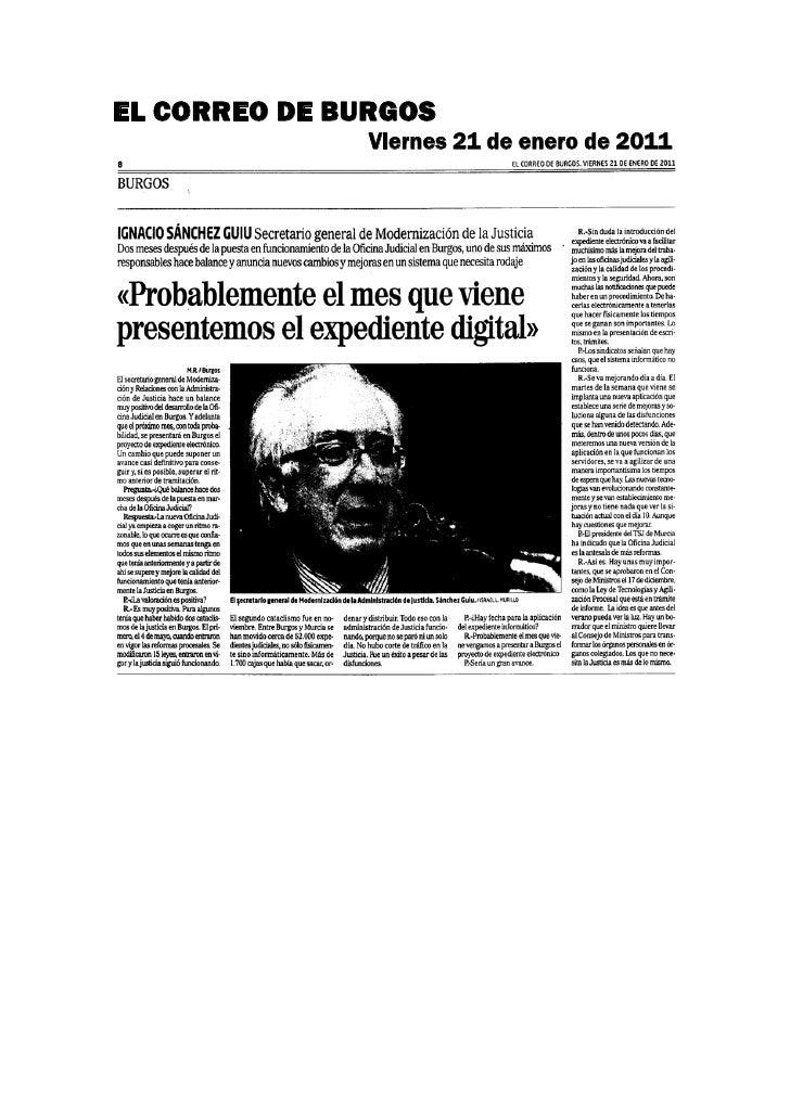EL CORREO DE BURGOS               Viernes 21 de enero de 2011