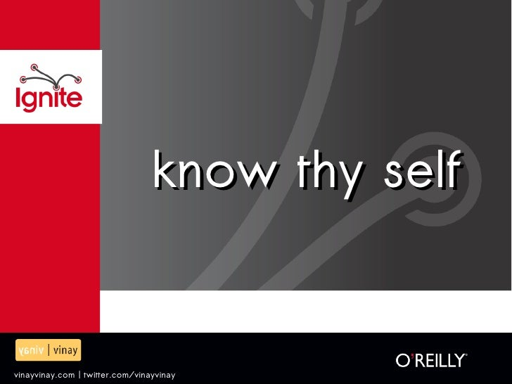 know thy self - ignite pune 2