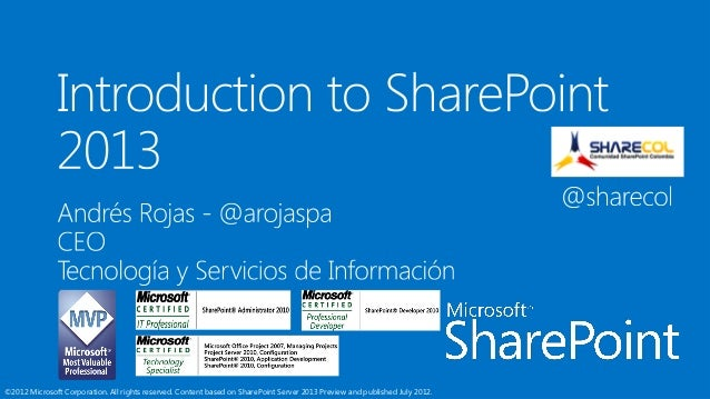 SharePoint #MDU2012